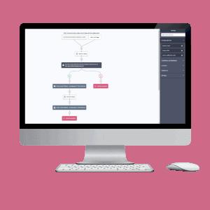 Automation editor op desktop beeldscherm