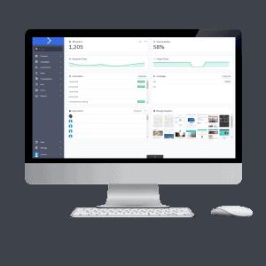 Dashboard op desktop beeldscherm