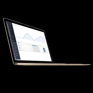 Rapportage op laptop scherm