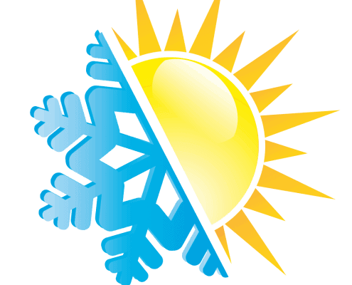 ijskristal en zon